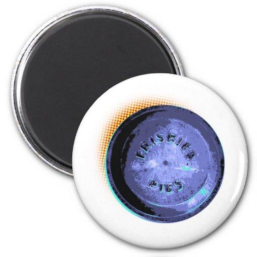 Original Frisbee Pie Tin Pop-Art 2 Inch Round Magnet