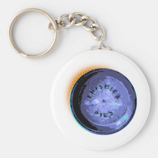 Original Frisbee Pie Tin Pop-Art Keychain