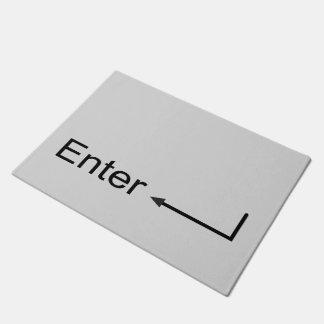 Original fun custom computer keyboard Enter button Doormat