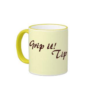 original fun drinking slogan text ringer mug