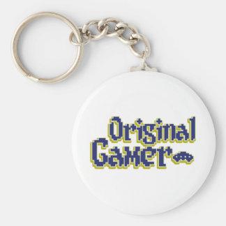 Original Gamer Basic Round Button Keychain