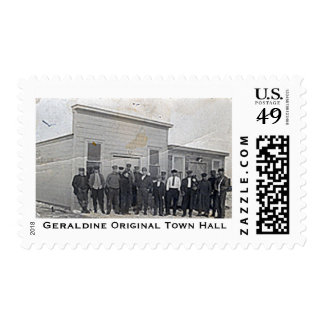 Original Geraldine Town Hall Stamp