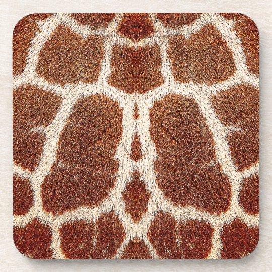 Original giraffe fur coaster