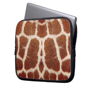 Original giraffe fur laptop sleeve