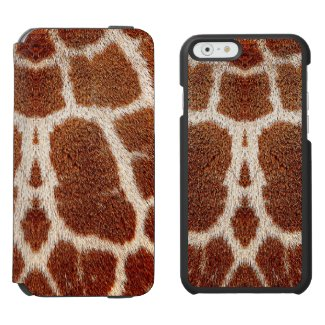 Original giraffe fur incipio watson™ iPhone 6 wallet case