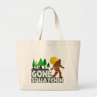 Original Gone Squatchin Design Large Tote Bag
