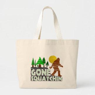 Original Gone Squatchin Design Large Tote Bag