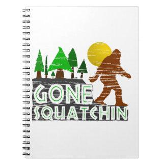 Original Gone Squatchin Design Spiral Note Books