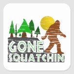 Original Gone Squatchin Design Square Sticker