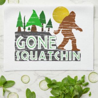 Original Gone Squatchin Design Towels