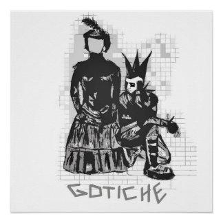 Original Gothic Punk Rock Hand drawn Poster