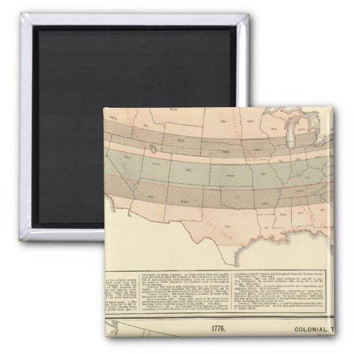 Original grants of 1776 settled area magnets
