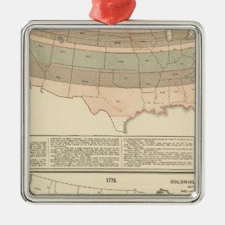 Original grants of 1776 settled area christmas ornament