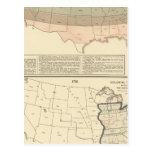 Original grants of 1776 settled area postcard