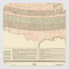 Original grants of 1776 settled area square sticker