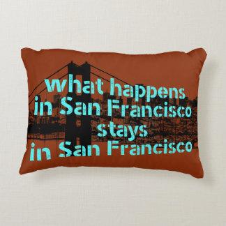 Original graphic about San Francisco, California… Accent Pillow