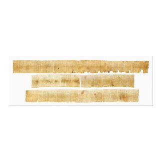 ORIGINAL Great Isaiah Scroll Dead Sea Scrolls Canvas Print
