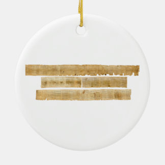 ORIGINAL Great Isaiah Scroll Dead Sea Scrolls Ceramic Ornament