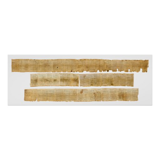 ORIGINAL Great Isaiah Scroll Dead Sea Scrolls Poster