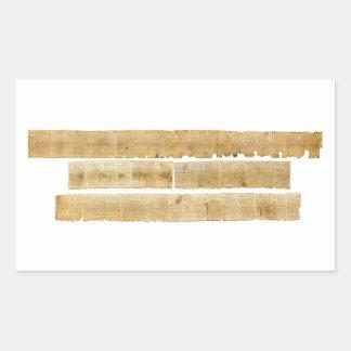 ORIGINAL Great Isaiah Scroll Dead Sea Scrolls Rectangular Sticker