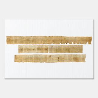 ORIGINAL Great Isaiah Scroll Dead Sea Scrolls Sign