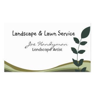 Original Green Branch  Landscape Nature on White Business Card