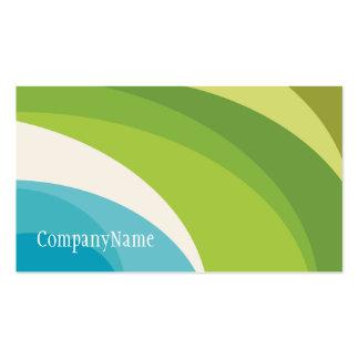 Original green floral business card