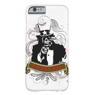 """Original grunge skull faced """"I want you"""" Uncle Sam Barely There iPhone 6 Case"""