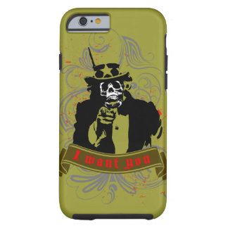 "Original grunge skull faced ""I want you"" Uncle Sam Tough iPhone 6 Case"