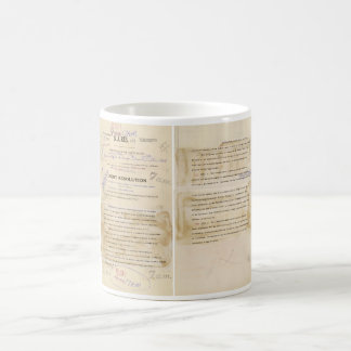 ORIGINAL Gulf of Tonkin Resolution Document Coffee Mug