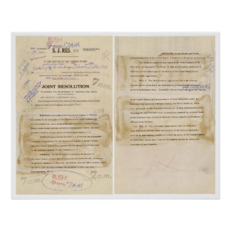 ORIGINAL Gulf of Tonkin Resolution Document Poster