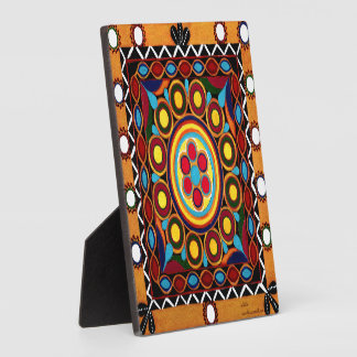 """Original Hand Painted Kutch Art Mandala"" Plaque"