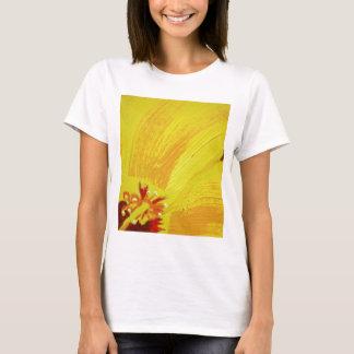 Original Hand Painted Yellow Hibiscus T-Shirt