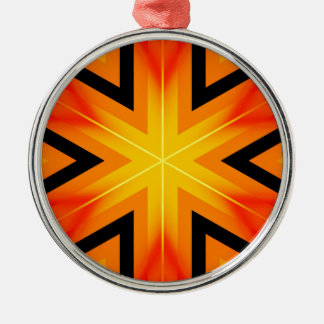 Original Hexagon Design #6 Metal Ornament