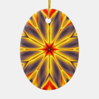 Original Hexagram Design #4 Ceramic Ornament
