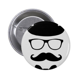 Original Hipster Pinback Button