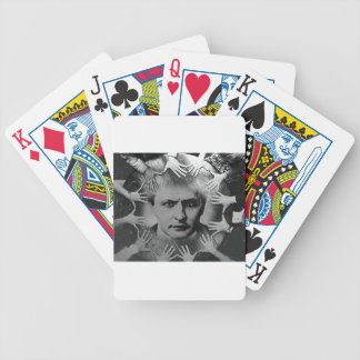 Original Houdinì b&w photo 1900s Bicycle Playing Cards