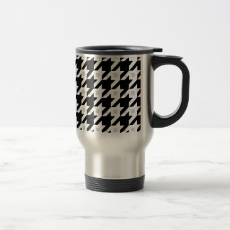 Original Houndstooth variation in white 15 Oz Stainless Steel Travel Mug