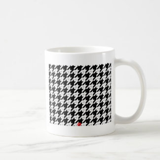 Original Houndstooth variation in white Classic White Coffee Mug