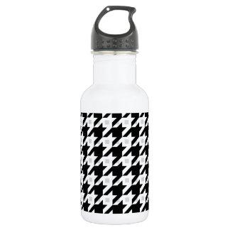 Original Houndstooth variation in white Water Bottle