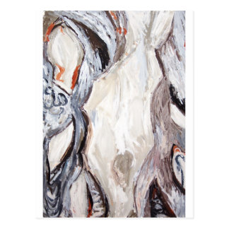 Original Human Mold (abstract expressionism) Postcard