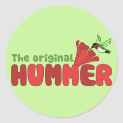 Round Sticker with The Original Hummer design