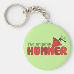 Basic Button Keychain with The Original Hummer design