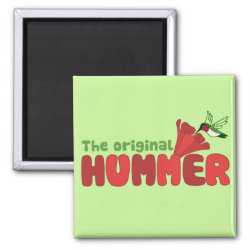 Square Magnet with The Original Hummer design