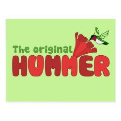 Postcard with The Original Hummer design