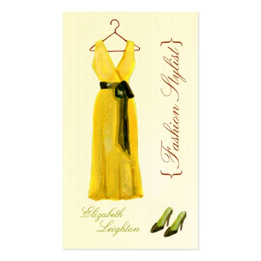 Original Illustration Fashion Styli Business Cards
