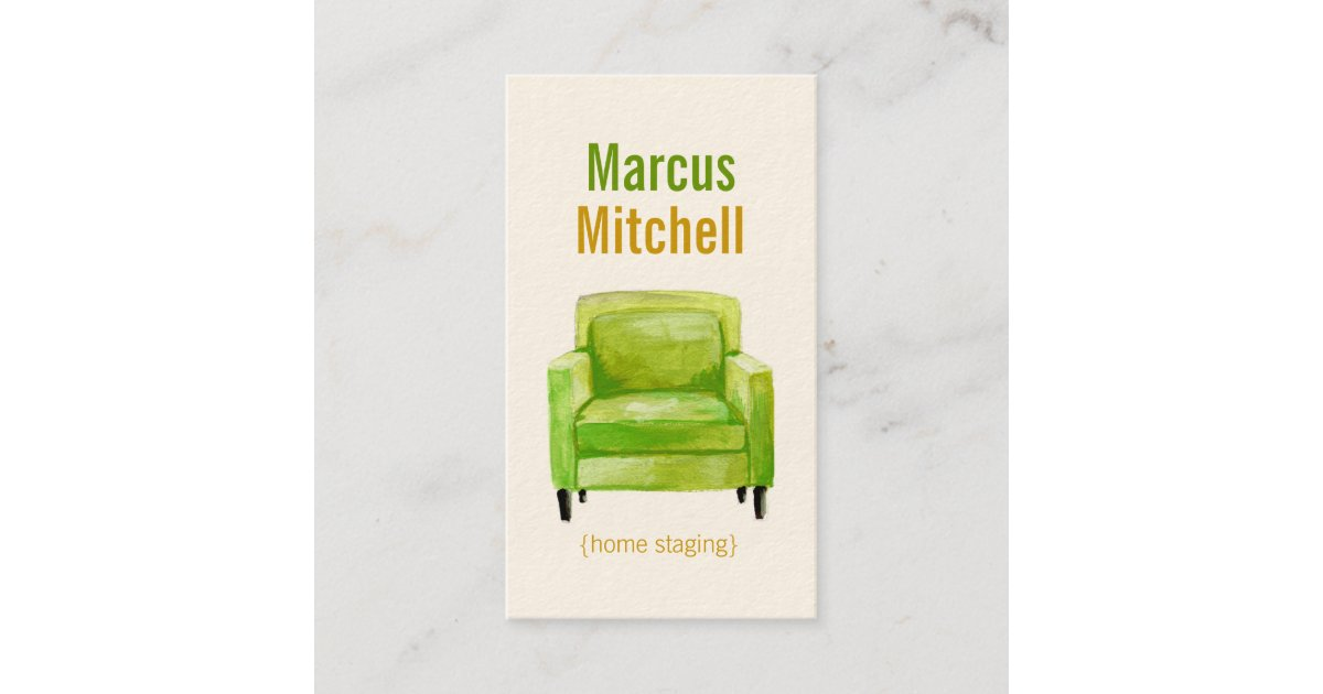 Original Illustration Home Staging Business Cards | Zazzle.com