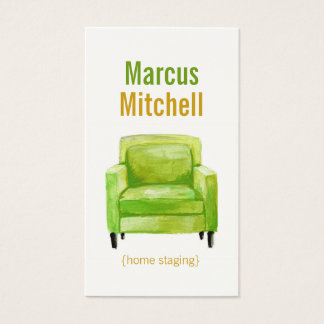 Original Illustration Home Staging Business Cards