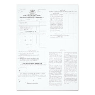 Original Income Tax Form 1040 from 1913 (4) Pages Card