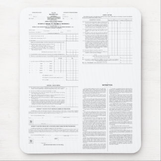 Original Income Tax Form 1040 from 1913 (4) Pages Mouse Pad